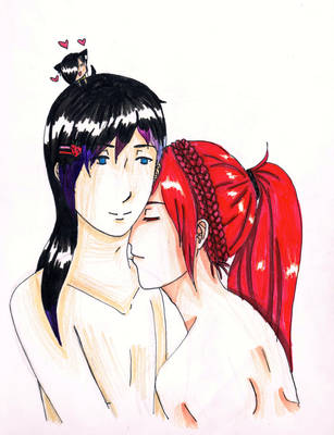 Koni and Ikachi by KokePasu