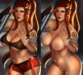 NSFW Brigitte Already on Patreon! by v1mpaler