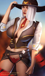 Overwatch Ashe Full Nude Available by v1mpaler