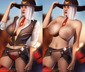 NSFW Ashe Already on Patreon! by v1mpaler