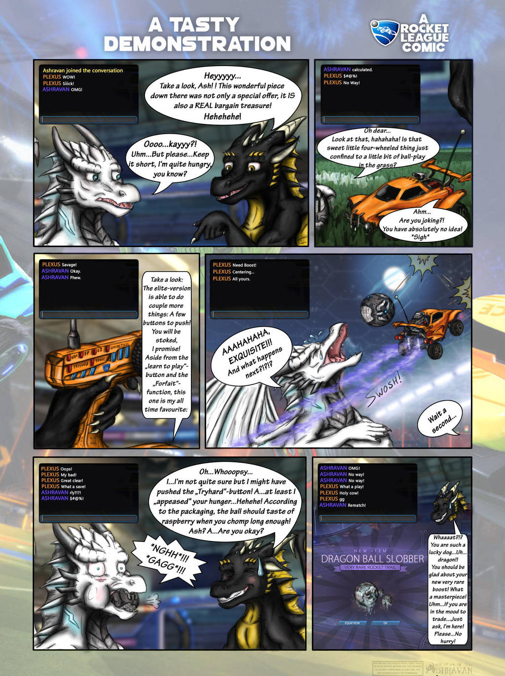 A Tasty Demonstration Eng Rocket League Comic By