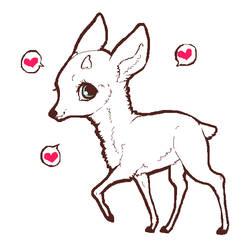 Deer lineart by vulpez-vulpez
