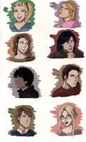 Hush Hush Characters by LadyELain