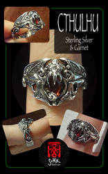 Cthulhu ring and garnet by somk