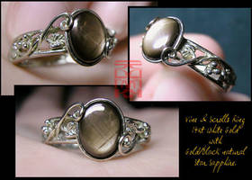Vine and Scrolls Ring by somk
