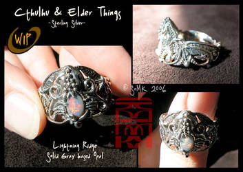 WIP - Cthulhu ElderThings ring by somk