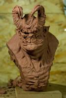 daemon bust by sculptart31