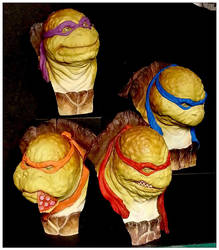 Ninja turtles painted by jerome otremba by sculptart31
