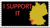 Germany and Alsace Lorraine-I support it stamp by Linumhortulanus