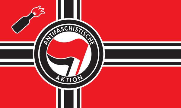 The new ANTIFA flag by Linumhortulanus