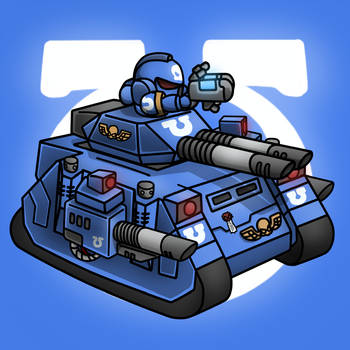 Carbot W40K Spacemarine Predator annihilator by CountryGump