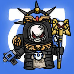 Carbot W40K Spacemarine Chaplin by CountryGump