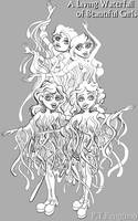 A Living Waterfall of Beautiful Girls by PTPenguino