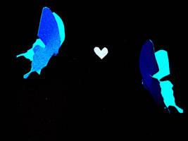Blue Butterflies by PTPenguino