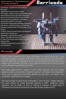 Profile Update - Barricade by halconfenix