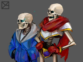 Sans and Papyrus from Undertale by oladushkaykt