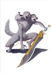 Fenrir wolf commission by GodOfBadWeather