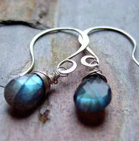 Labradorite Earrings by contrariwise