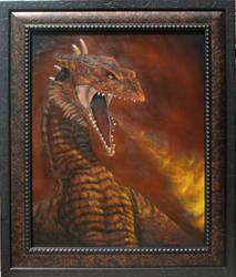Vermithrax (framed) by nicoletaggart