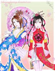Kimono and Cheongsam by frozenangeluswingz