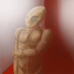 alien digitalpainting practice by Var1s