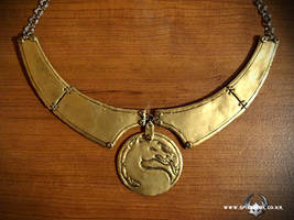 mortal kombat dragon necklace by Spiked-Fox