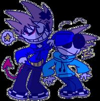 little bro and big bro by RAIINY-SKYE