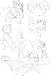 Sketch Dump by S-Dragoness