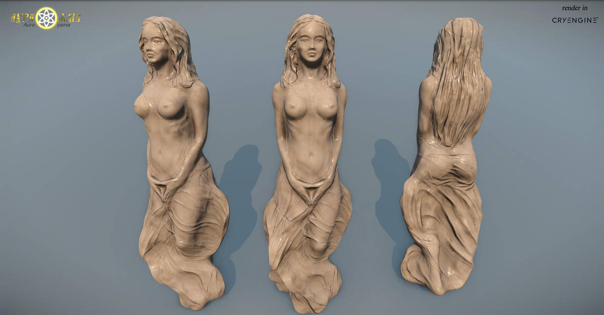 Girl statue by AndreyFilantrop