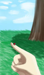 tiny ladybug by shizuko-kuroku