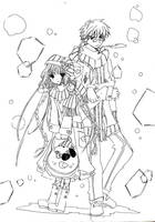 Kobato and Fujimoto by Toriichi