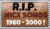 R.I.P nice songs 1960 - 2000 ! -stamp- by DarkAfi4