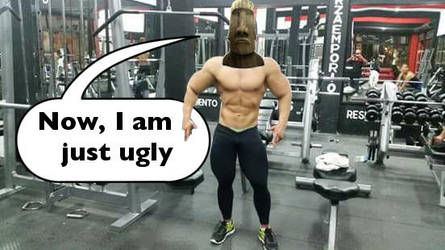 Ugly stone face gym rat by GYMdoll