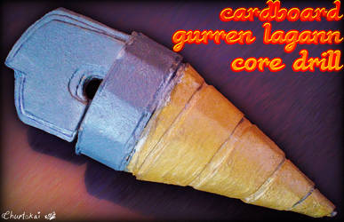 Cardboard Gurren Lagann Core Drill by Chartokai