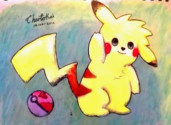 watercolour pikachu! by Chartokai