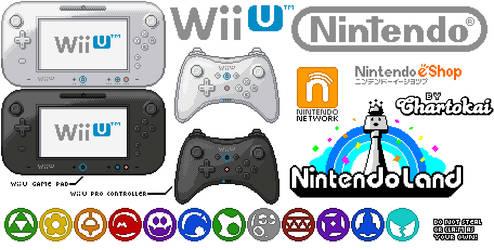 Nintendo Wii U pixel art by Chartokai