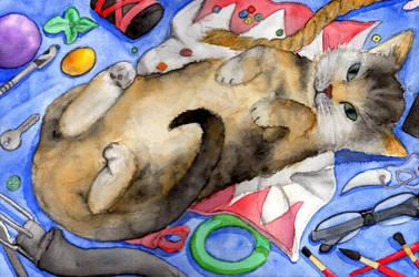 Flufy kitty cat! (=^~^=) by Chartokai