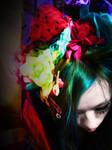 Decora Gothic Lolita, rainbow hair visual kei by suki42deathlake
