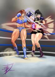 Azumi Nashimura VS Deborah Kranz by NightmareRacer85