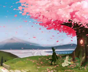Cherry Blossom Background by MrGremble