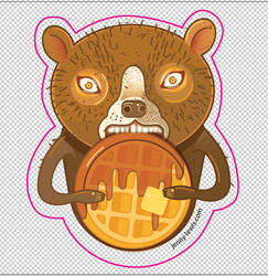 Waffle bear by miorats