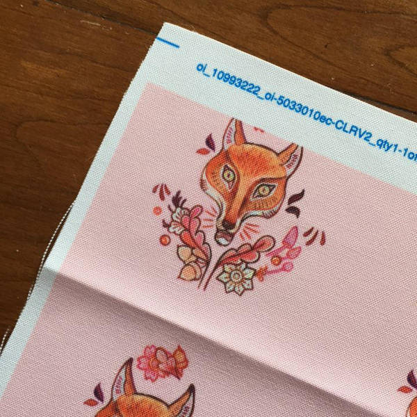 Pink Fox Pattern by miorats