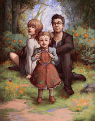 Hughes Family (Ten of Cups) by Katsuvy