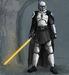 Solus Gar, Mando Jedi - Helmet by borkweb
