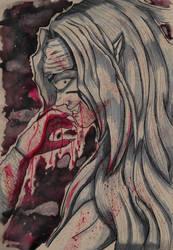 Inktober 05 - Stricken by loveisonherwrist