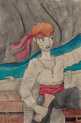 Inktober 10 - He's a Pirate! by loveisonherwrist