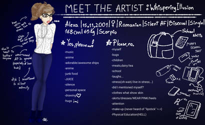 Meet the artist! by WhisperingIllusion