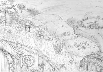 The Shire [sketch] by Saoto