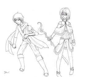 Golden Sun Character Designs by Saoto