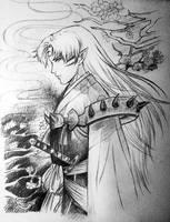 The Daiyoukai Sesshomaru by IsaveTaan